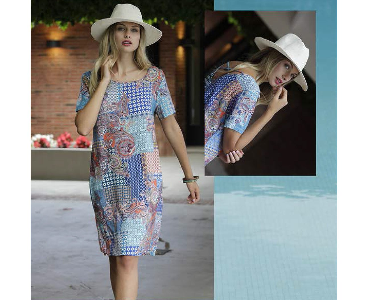 Massana L197261 sukienka tinta playera mujer c/redondo