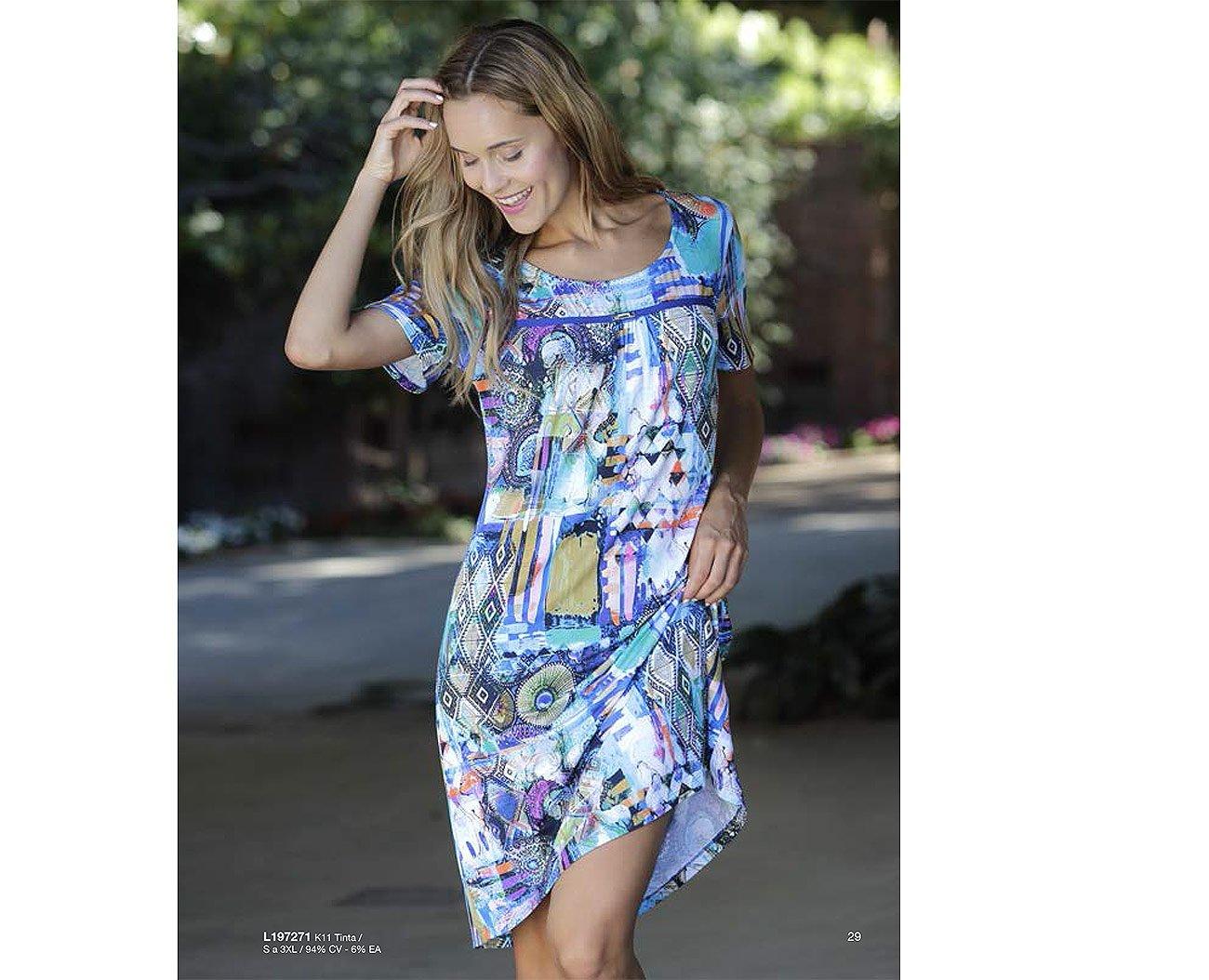 Massana L197271 sukienka tinta playera mujer c/redondo
