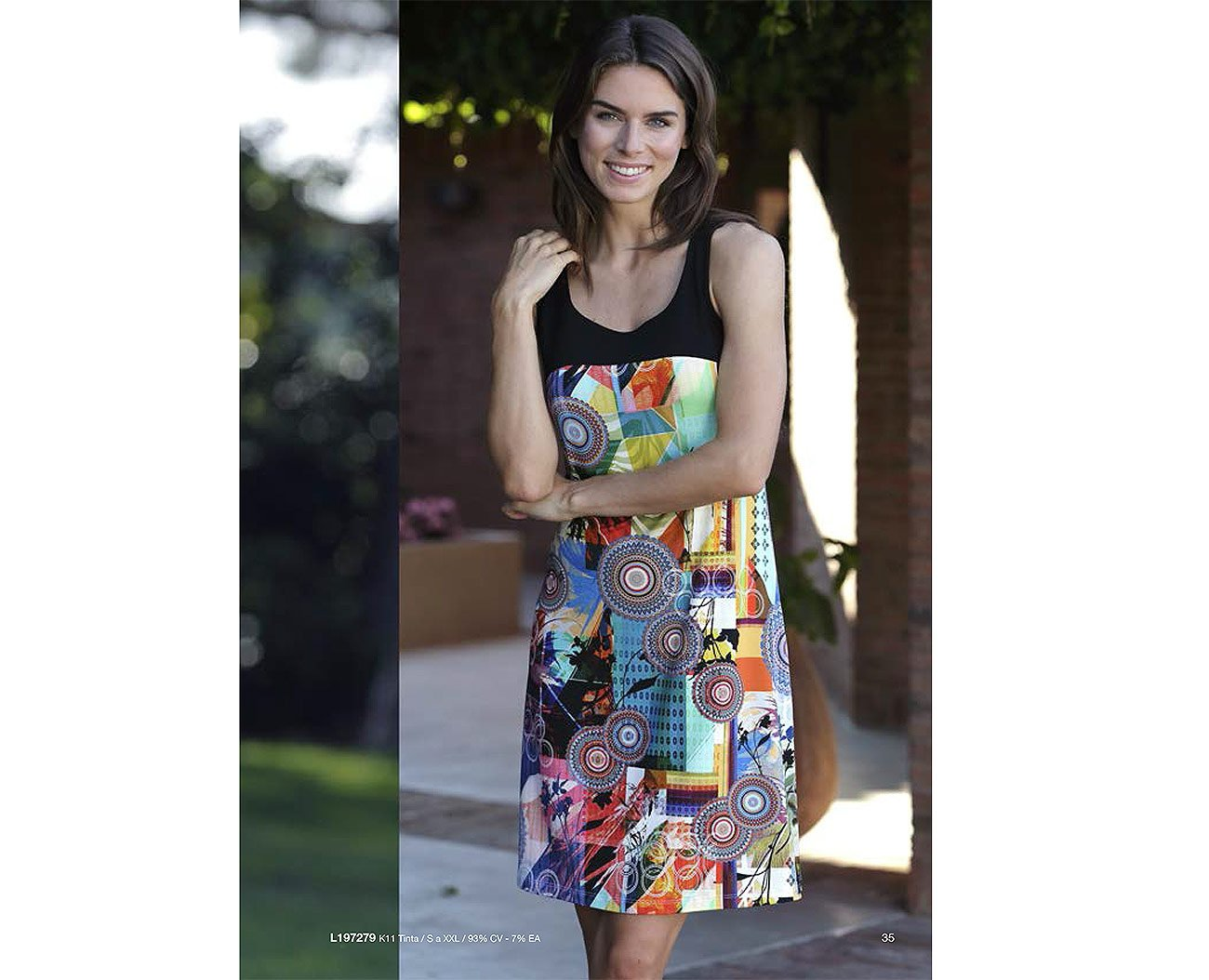 Massana L197279 sukienka tinta playera mujer tirantes