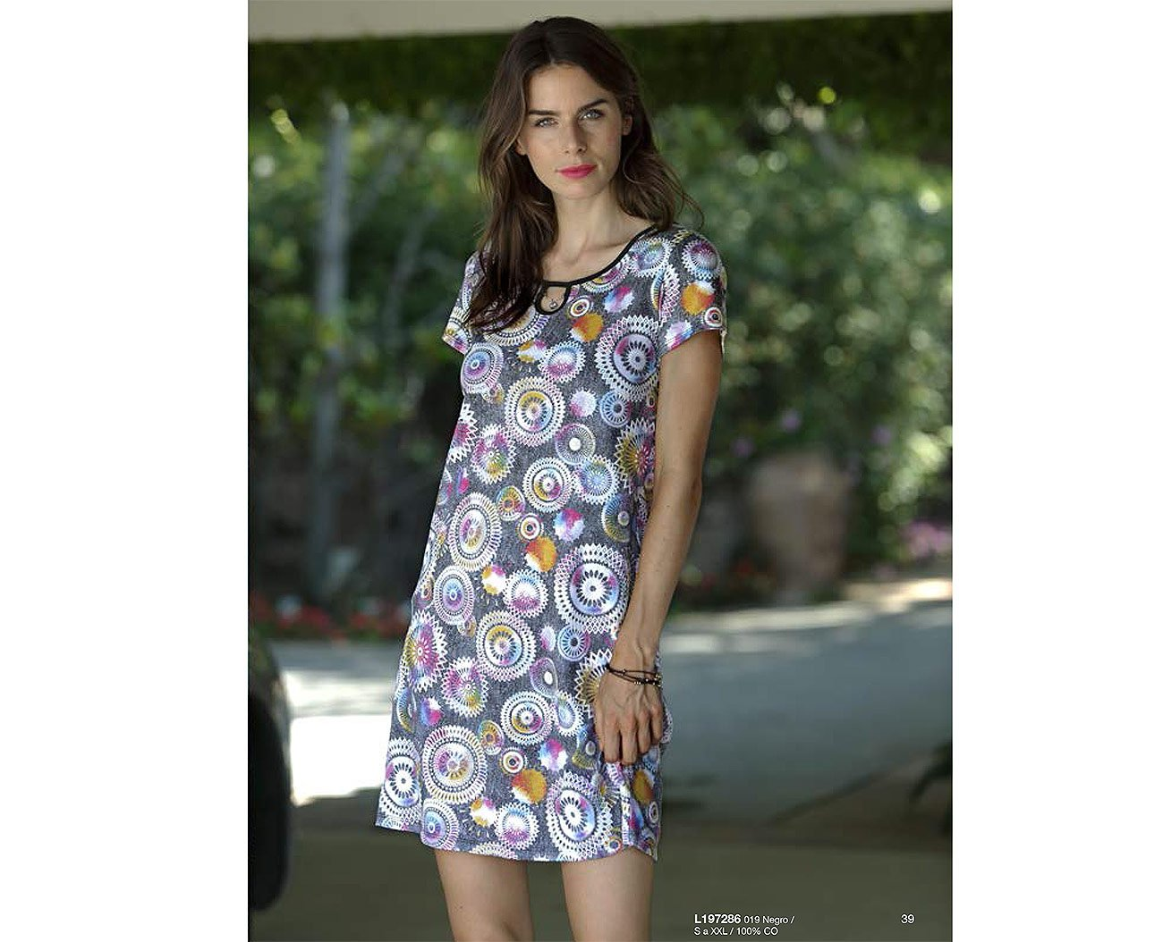 Massana L197286 sukienka negro playera mujer c/redondo