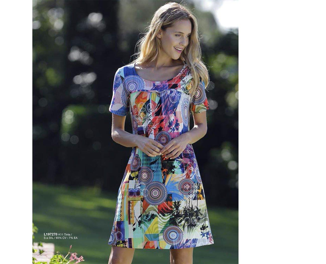 Massana L197278 sukienka tinta playera c/redondo