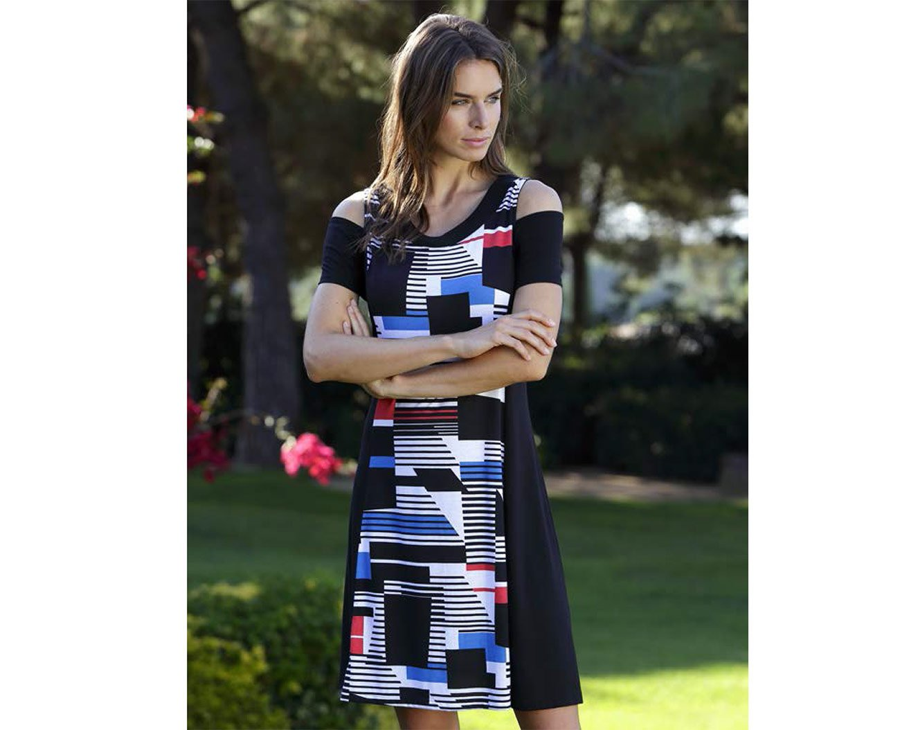 Massana L197240 sukienka negro playera mujer c/redondo